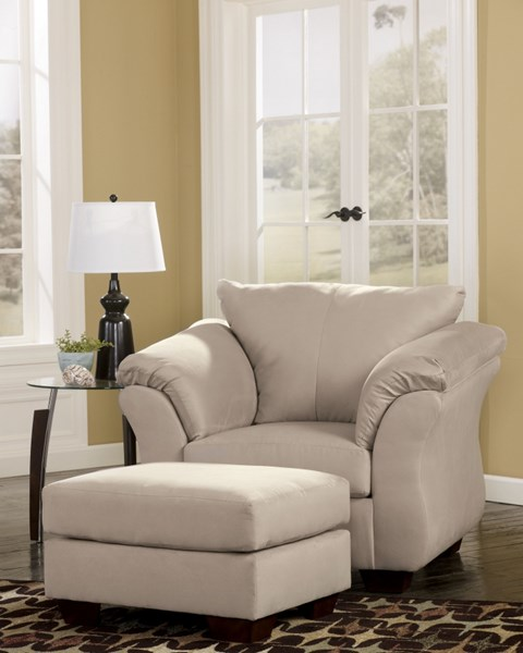 Darcy Contemporary Stone Fabric Chair & Ottoman Set 7500014-CHO-S1
