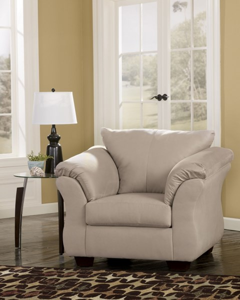 Darcy Contemporary Stone Fabric Pillow  Back Chair 7500020