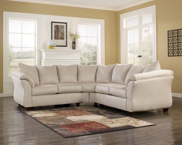 Darcy Contemporary Stone Fabric Cushion Back Sectional 75000-S1