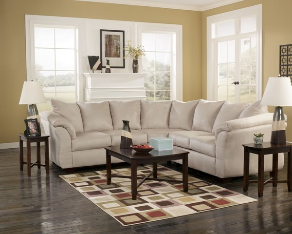 Darcy Contemporary Stone Fabric LAF Loveseat 7500055