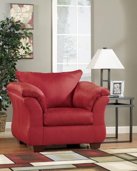 Darcy Contemporary Salsa Fabric Pillow Back Chair 7500120