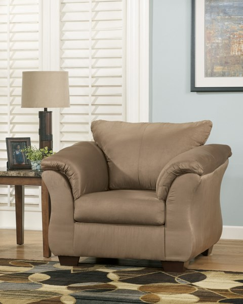 Darcy Contemporary Mocha Fabric Pillow Back Chair 7500220