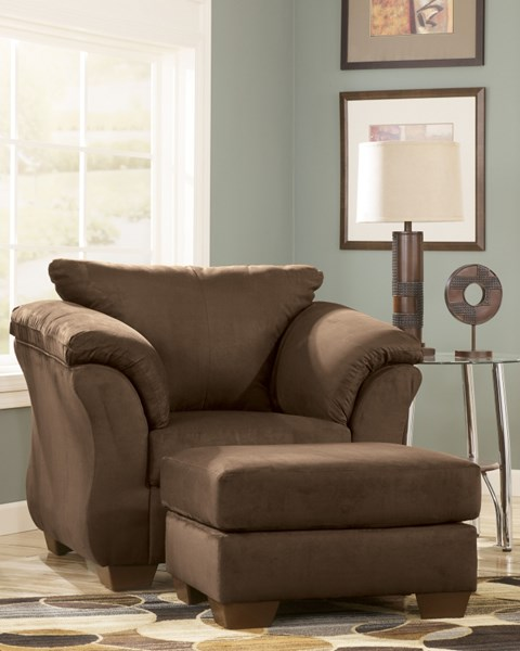 Darcy Contemporary Cafe Fabric Chair & Ottoman Set 7500414-CHO-S1