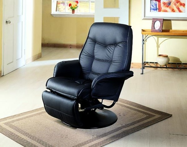Leatherette Swivel Recliner Chair W/Cushion Back CST-7501-7502