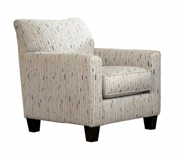 Hodan Contemporary Marble Fabric Wood Accent Chair 7970021