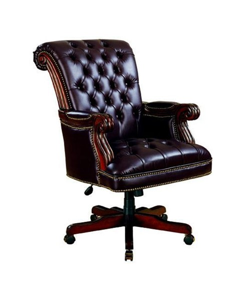 Traditional Brown Burgundy Executive Office Chair CST-800142