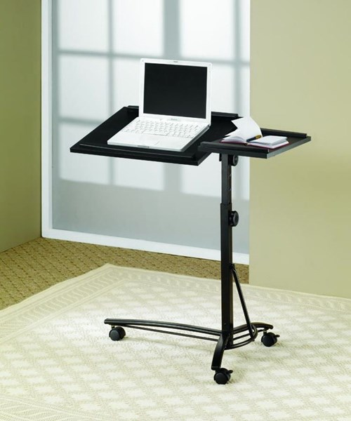 Black Metal Three Casters Laptop Stand CST-800215