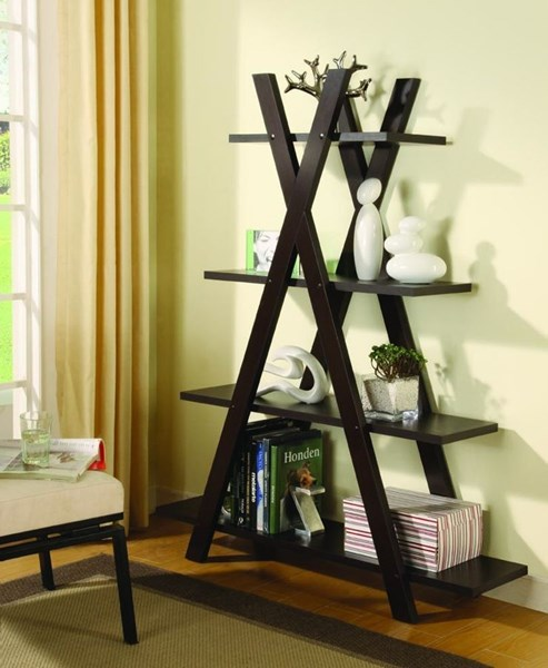 Coaster Furniture Cappuccino Wood 4 Shelves Bookcase CST-800267