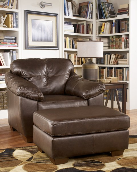 San Lucas Contemporary Harness Faux Leather Fabric Chair 8370220