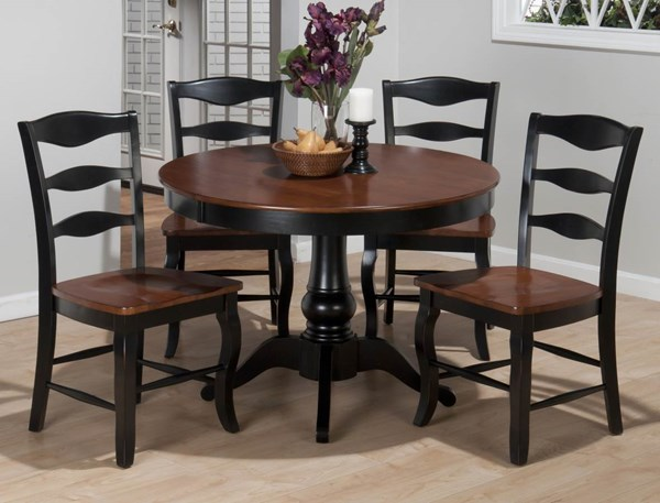 2 Jofran Madison County Antique Charcoal,Brown Ladderback