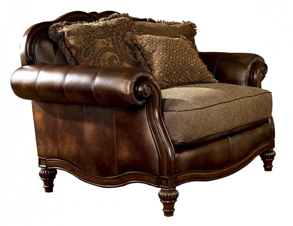 Ashley Furniture Claremore Antique Chair And A Half The Classy Home