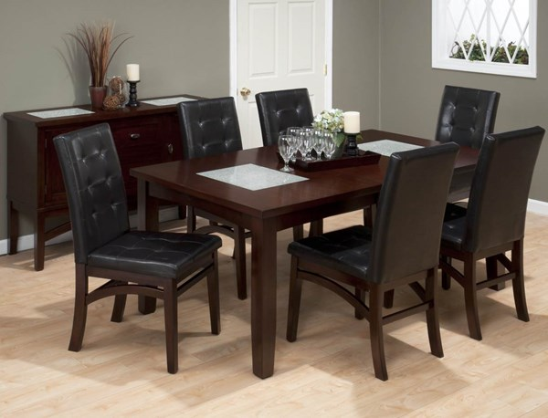 Chadwick Contemporary Espresso Wood 5pc Dining Room Set JFN-863DT-set