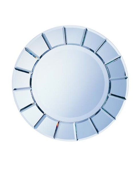 Silver Glass Sun Shape Mirror CST-8637