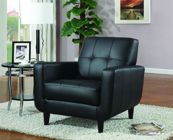 Modern Black Cappuccino Fabric Wood Accent Chair CST-900204