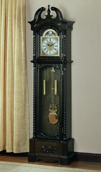 Traditional Brown Wood Double Chime Grandfather Clock CST-900721
