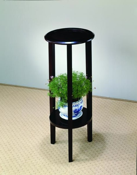 Transitional Cappuccino Wood Plant Stand CST-900936