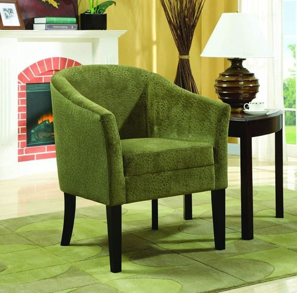 Pistachio Wood Fabric Accent Chair W/Cushion Back CST-902042