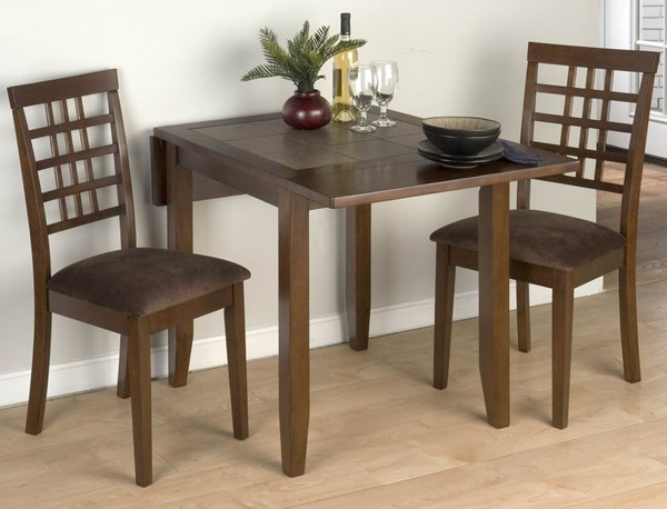 Jofran Caleb Brown Wood Grid Back 3pc Bar Set JFN-976BT-set1
