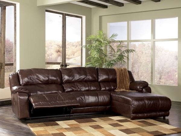 Braxton Contemporary Java Leather RAF Press Back Chaise 9780007