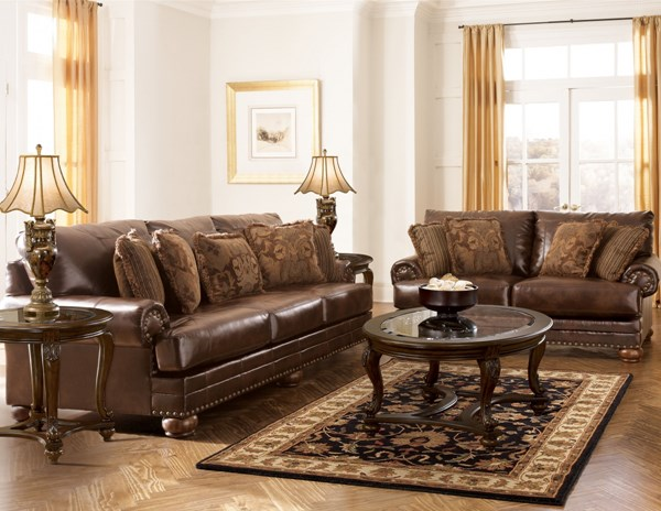 DuraBlend Traditional Antique Leather 4pc Living Room Set 99200-S