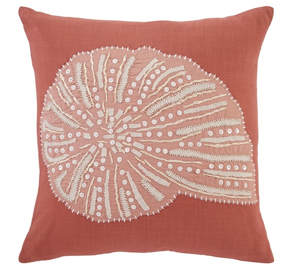 Lonan Transitional Coral Square Fabric Pillow Covers A1000508-VAR