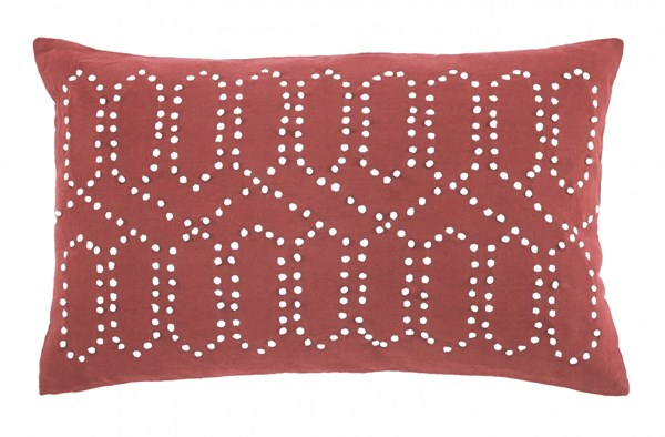 Simsboro Vintage Casual Coral Fabric Pillow A1000518P