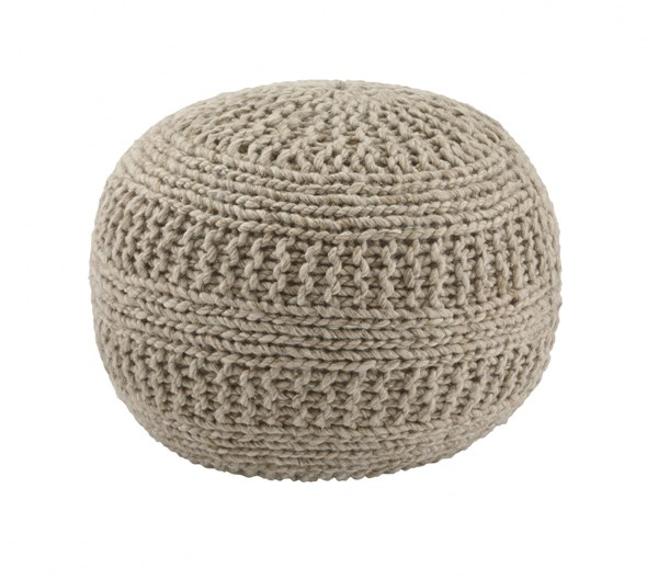 Benedict Vintage Casual Natural Fabric Round Pouf A1000558
