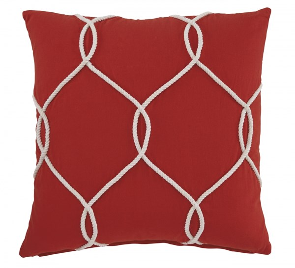 4 Lessel Transitional Coral Fabric Pillow Covers A1000668