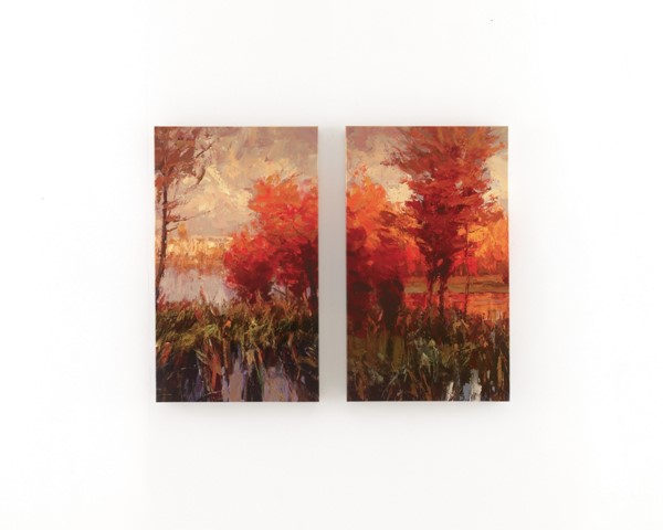 2 Andie Contemporary Canvas Wall Art Sets A8000009