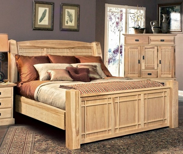 A-America Amish Highlands Natural Arch Panel Beds AAF-AHINT5-70-BED-VAR