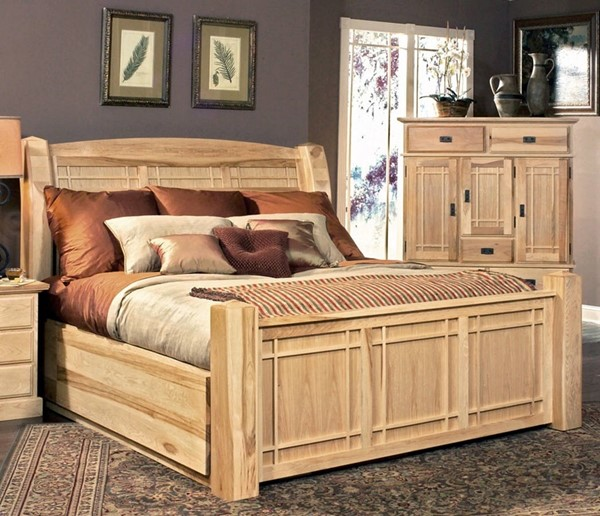 A-America Amish Highlands Natural Storage Beds AAF-AHINT5-71-SBED-VAR