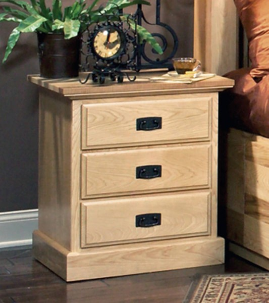 A-America Amish Highlands Natural 3 Drawer Nightstand AAF-AHINT5750