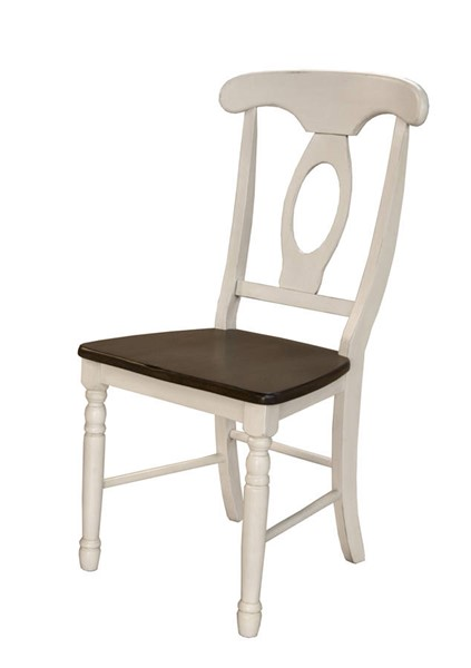 2 A-America British Isles Chalk Cocoa Bean Napoleon Side Chairs AAF-BRICO285K