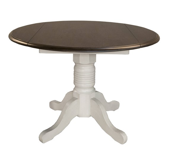 A-America British Isles Chalk Cocoa Bean Round Double Drop Leaf Dining Tables AAF-BRI-6100-DT-VAR