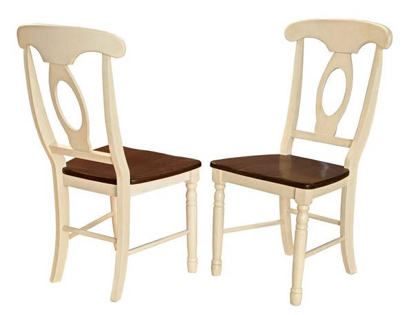 2 A-America British Isles Merlot Buttermilk Napoleon Side Chairs AAF-BRIMB2852