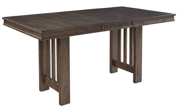 A-America Bremerton Warm Grey Trestle Table Top with 18 Inch Butterfly Leaf AAF-BRMWG631T