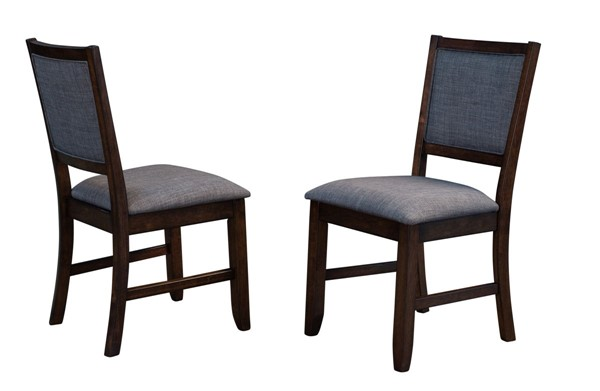 2 A-America Chesney Falcon Brown Upholstered Side Chairs AAF-CHSFB2692