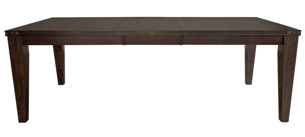 A-America Carter Rich Tobacco Rectangle Leg Table with 18 Inch Self Storing Leaf AAF-CTRRT6300
