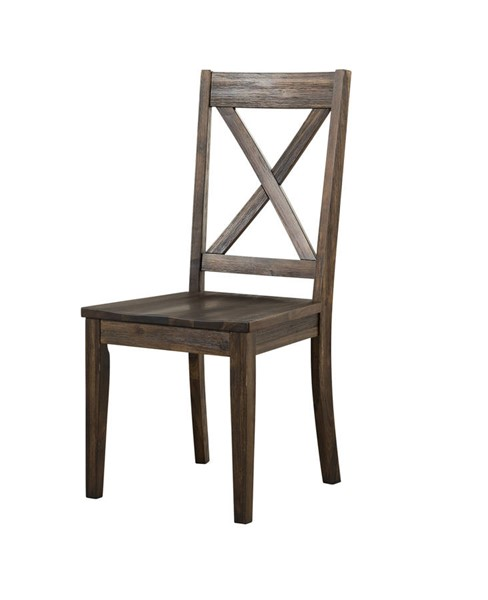 2 A-America Huron Weathered Russet X Back Side Chairs AAF-HURWR247K