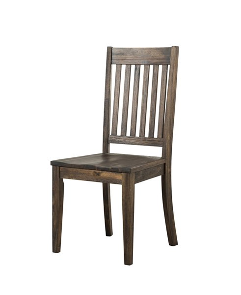 2 A-America Huron Weathered Russet Slatback Side Chairs AAF-HURWR265K