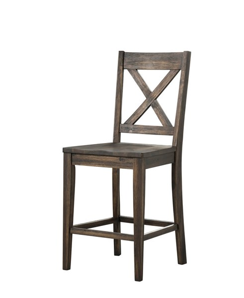 2 A-America Huron Weathered Russet X Back Barstools AAF-HURWR347K