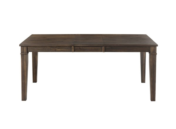 A-America Huron Weathered Russet 16 Inch Leaf Leg Table AAF-HURWR6090