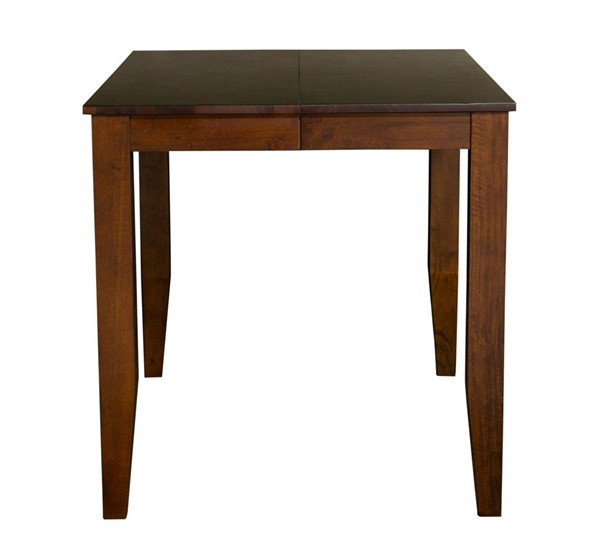 A-America Mason Mango 18 Inch Butterfly Leaf Square Gather Height Dining Table AAF-MASMA6750