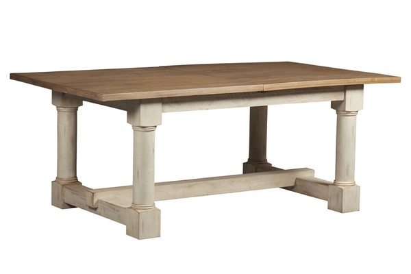 A-America Monastery Parchment Ivory 20 Inch Butterfly Leaf Trestle Table AAF-MOAPI6301