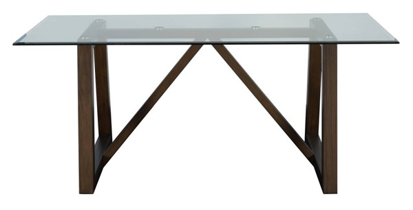 A-America Palm Canyon Carob Brown 72 Inch Glass Trestle Table AAF-PAMCR6320