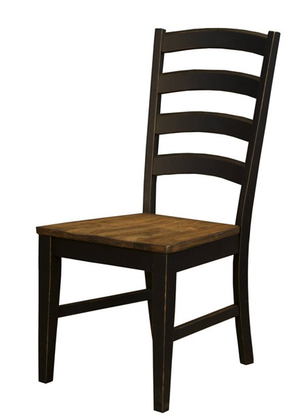 2 A-America Stone Creek Chickory Black Ladderback Chairs AAF-STOBL255K