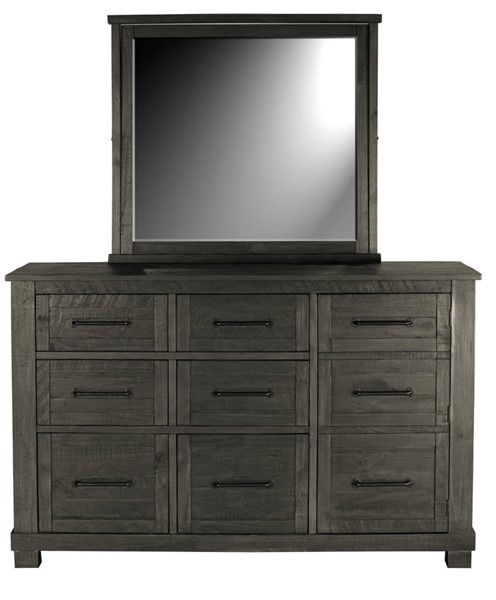 A-America Sun Valley Charcoal 9 Drawer Dresser and Mirror AAF-SUVCL55-DRMR
