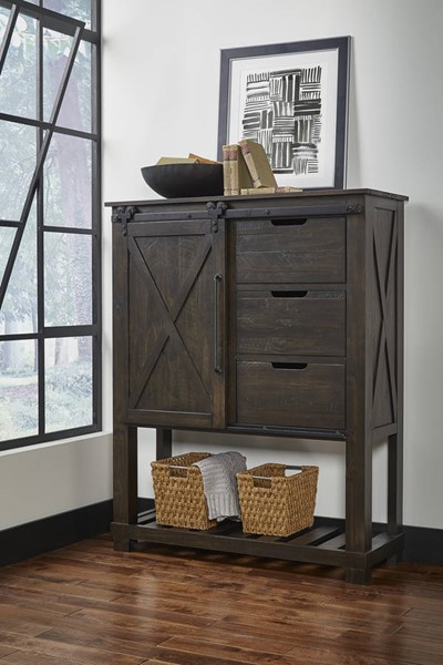 A-America Sun Valley Charcoal Barn Door Chest AAF-SUVCL5630