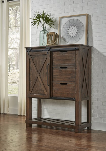 A-America Sun Valley Rustic Timber Barn Door Chest AAF-SUVRT5630