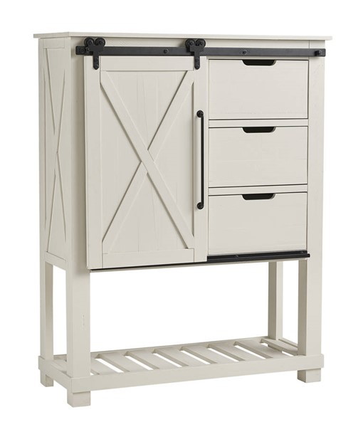 A-America Sun Valley White Barn Door Chest AAF-SUVWT5630